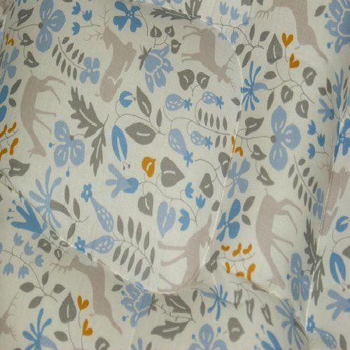 Blue Fawn Pram Liner Close Up Image