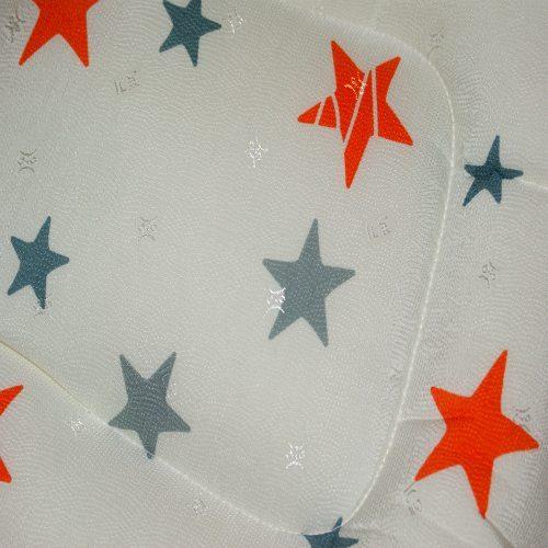 Orange Stars Pram Liner Close Up Image